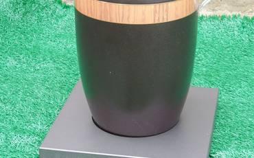 Mehrwegurne schwarz mit Adapter
