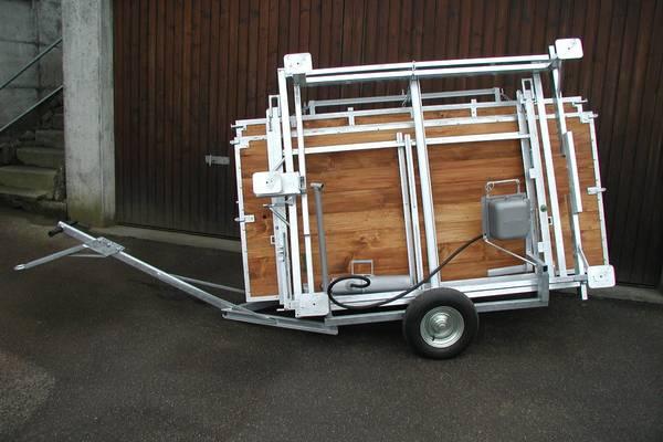 Transportwagen für Kippmulde